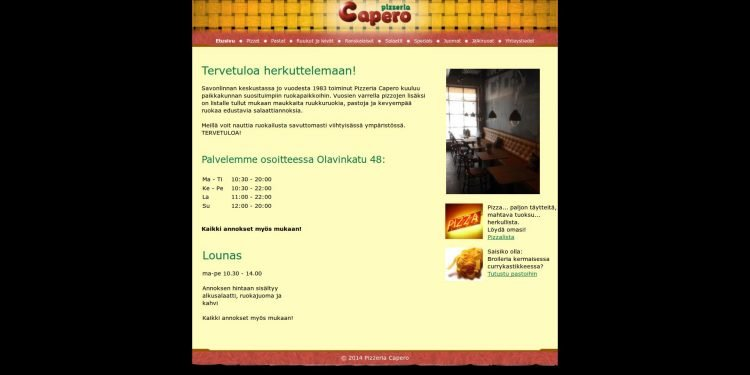 Pizzeria Capero Oy